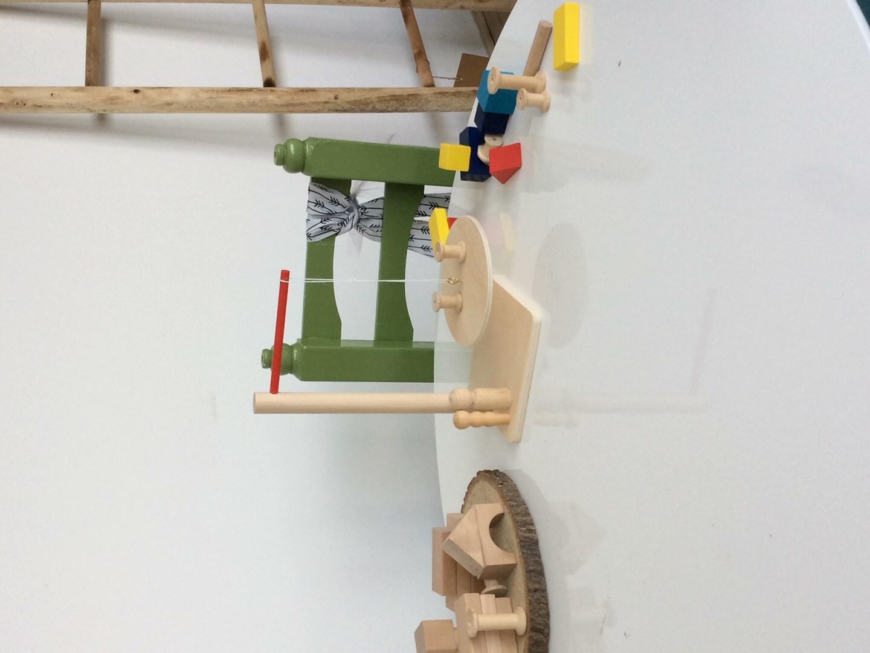 Houten balansspel